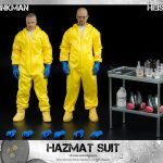 ThreeZero Breaking Bad Hazmat 2-Pack Walter White and Jesse Pinkman action figures, accessories