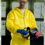 ThreeZero Breaking Bad Hazmat 2-Pack Walter White and Jesse Pinkman action figures, Walter figure with mask