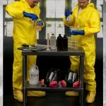 ThreeZero Breaking Bad Hazmat 2-Pack Walter White and Jesse Pinkman action figures, working