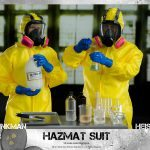 ThreeZero Breaking Bad Hazmat 2-Pack Walter White and Jesse Pinkman action figures, working masks on