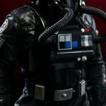 Sideshow Collectibles Sixth Scale Rogue One Tie Fighter Pilot action figure, armor detail