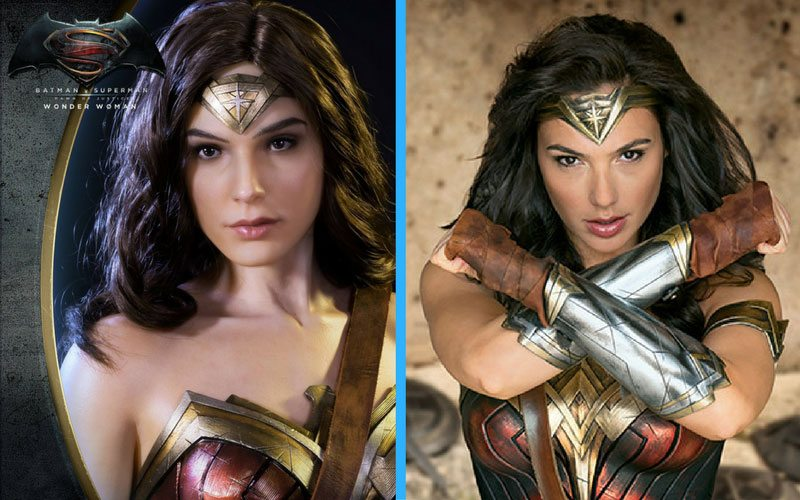 Prime 1 Studio Batman v Superman Wonder Woman 1:2 Scale statue, comparison with Gal Gadot
