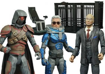 DST Gotham TV series action figures for the villains Mr. Freeze, Hugo Strange, and Azrael