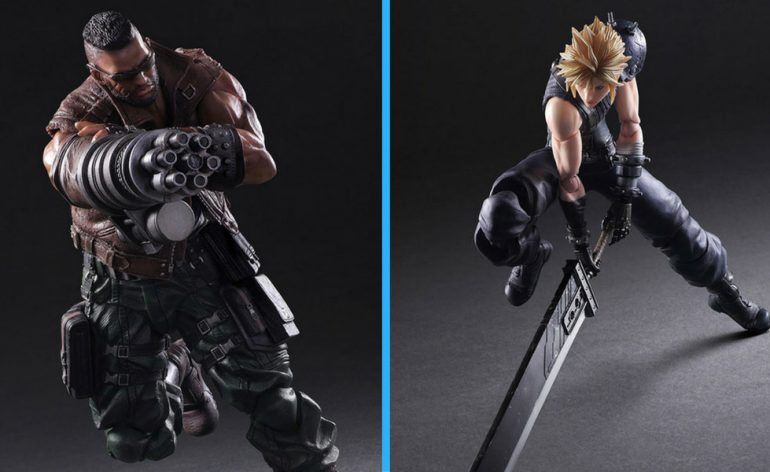Square Enix Play Arts Kai FF7 Remake Action Figures, Barret Wallace and Cloud Strife