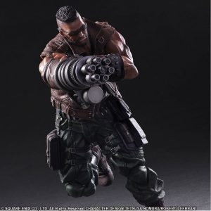 Square Enix Play Arts Kai FF7 Remake Action Figures, Barret Wallace