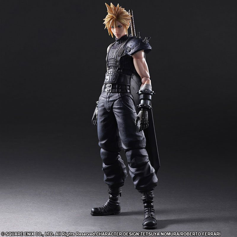 Square Enix Play Arts Kai FF7 Remake Action Figures, Cloud Strife