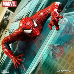 Mezco One:12 Collective Spider-Man action figure, wall crawling