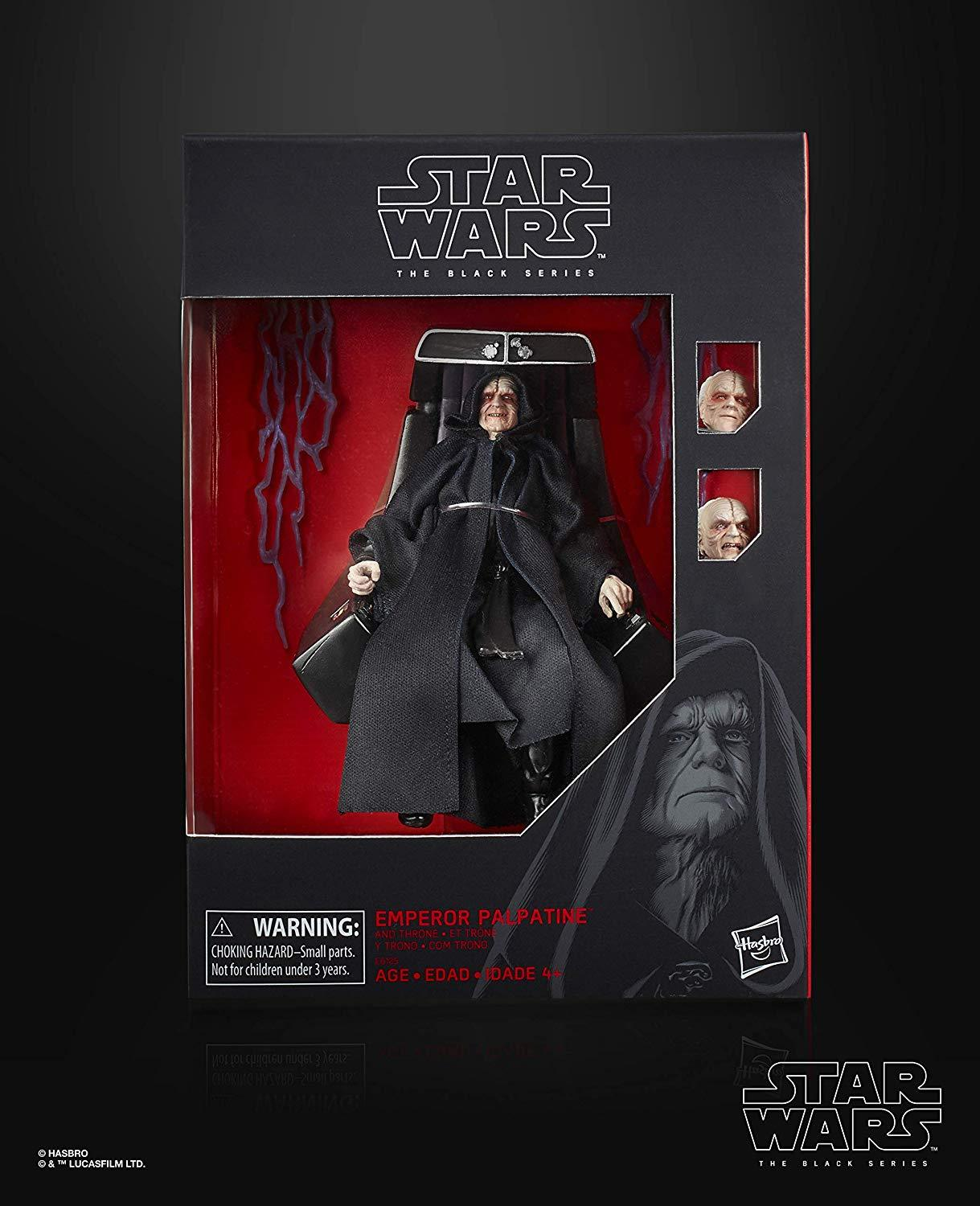 Exclusive Star Wars The Black Series Emperor Palpatine Action Figure With Throne 6 Scale Return Of